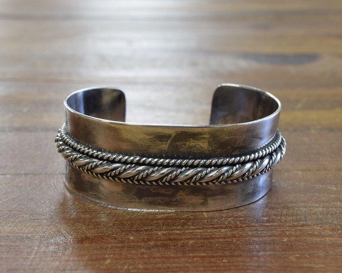 Vintage Southwestern Sterling Silver Cuff Bracelet