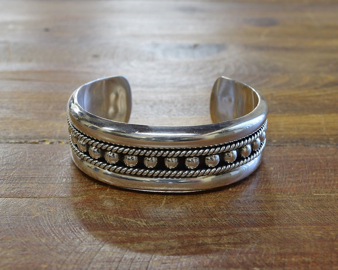 Vintage Mexican Sterling Silver Cuff Bracelet