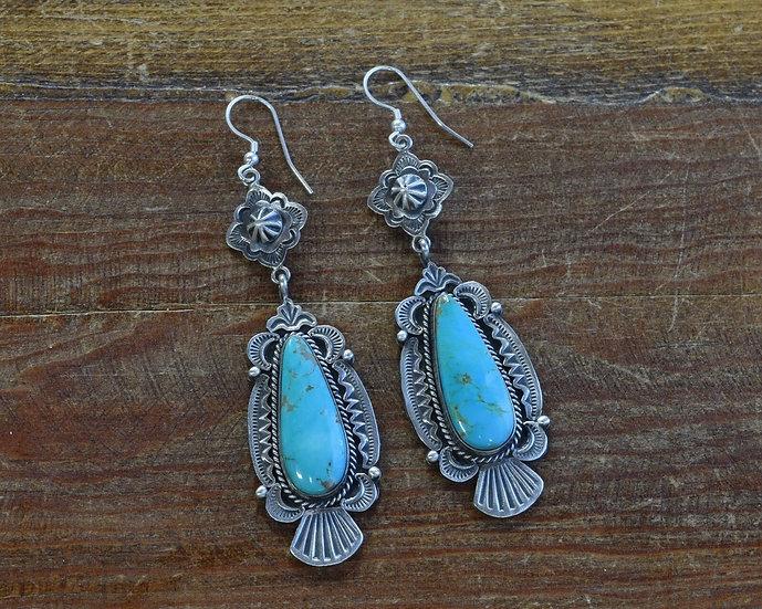 Navajo Turquoise Sterling Silver Earrings