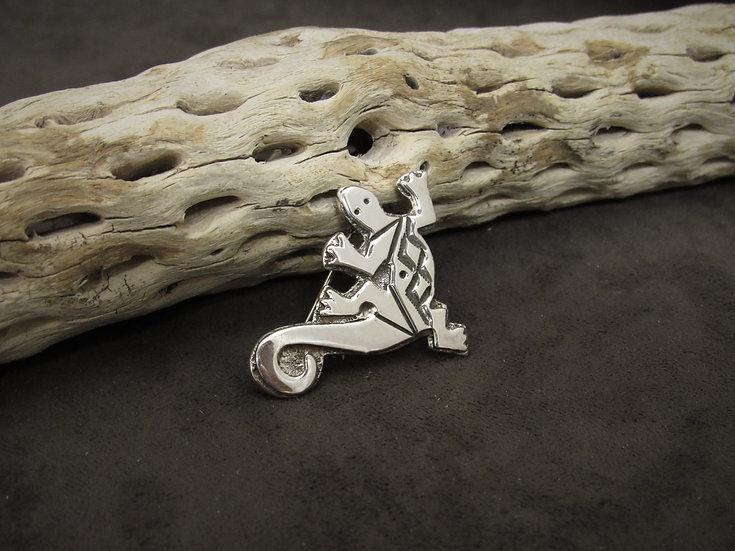 Southwestern Sterling Silver Lizard Pin