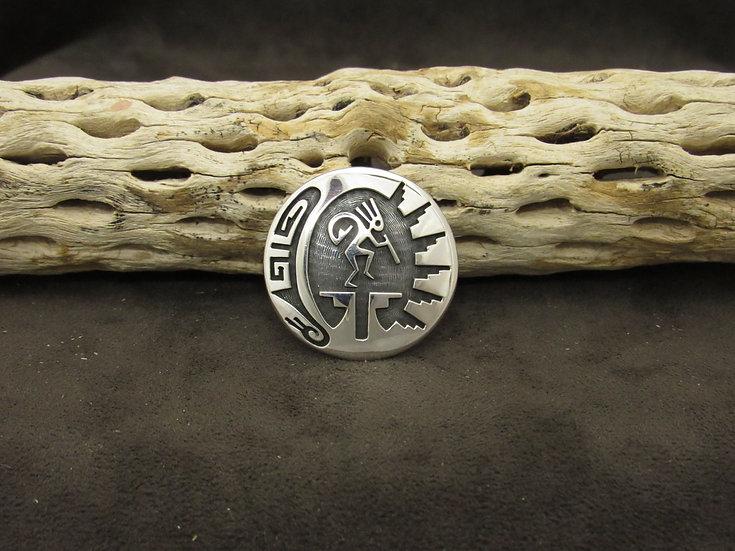 Sterling Silver Overlay Kokopelli Pendant