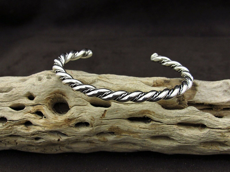 Twisted Sterling Silver Cuff Bracelet
