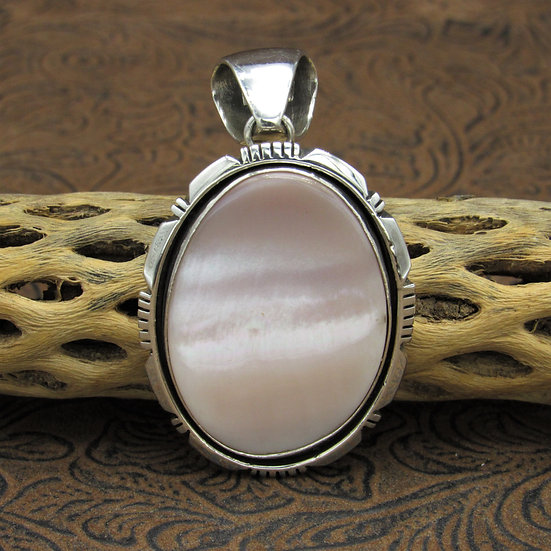 Navajo Mother of Pearl Sterling Silver Pendant