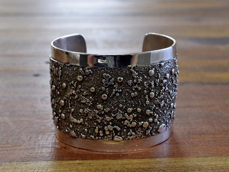 Vintage Navajo Silver Nugget Sterling Silver Cuff Bracelet