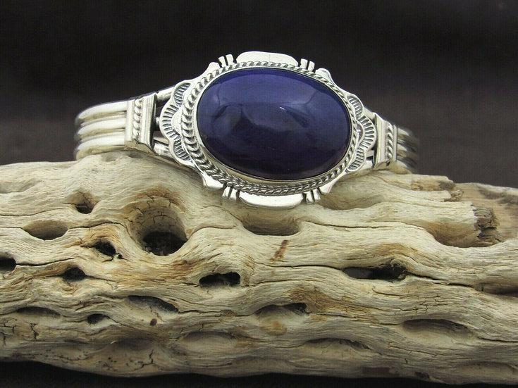 Southwestern Sterling Silver Sugilite Cuff Bracelet