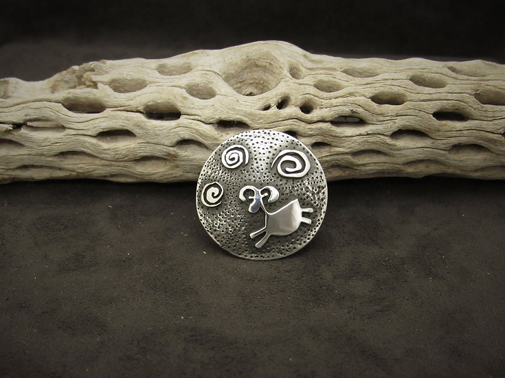 Navajo Sterling Silver Overlay Pendant by Alex Beeshligaii