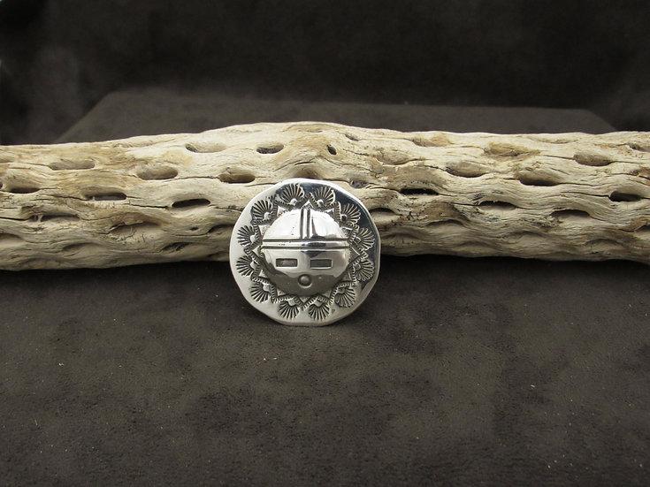 Southwestern Sterling Silver Sunface Pin/Pendant