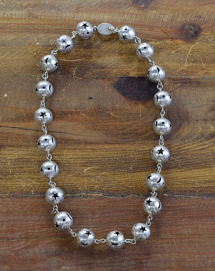 Vintage Sterling Silver Star and Moon Necklace