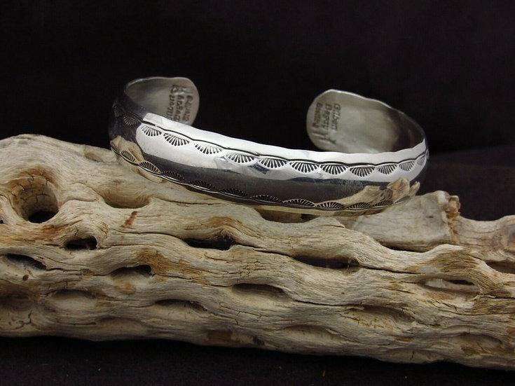 Navajo Sterling Silver Southwestern Cuff Bracelet