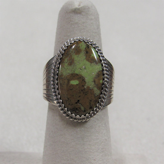 Southwest Sterling Silver and Green Turquoise Ring Size 5.5