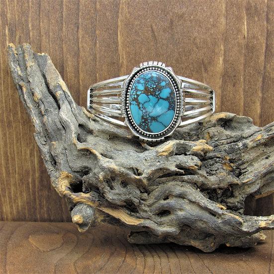 Vintage Sterling Silver Turquoise Southwestern Cuff Bracelet