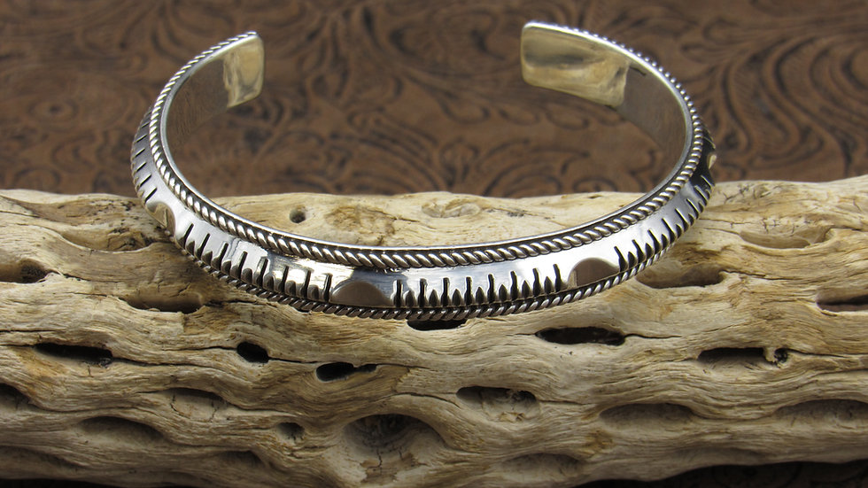 Sterling Silver Intricate Design Cuff Bracelet