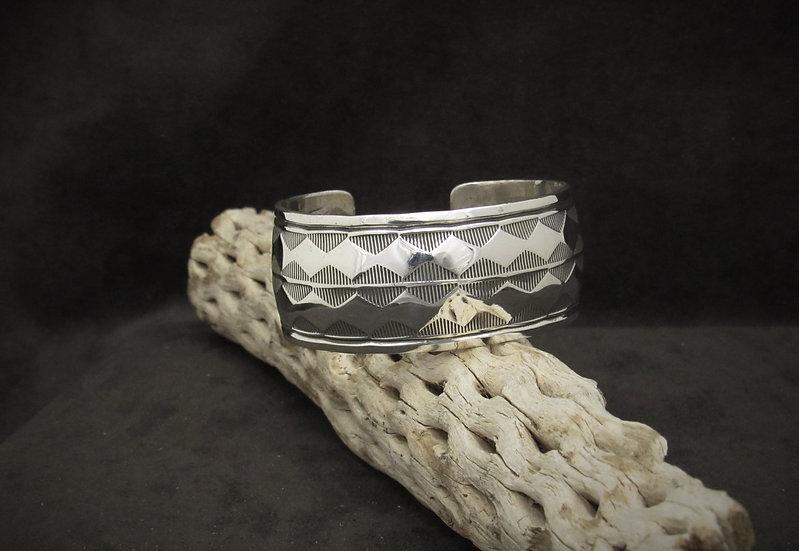 Navajo Sterling Silver Cuff Bracelet by Douglas Etsitty