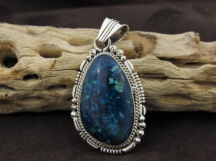 Southwestern Sterling Silver Chrysocolla Pendant