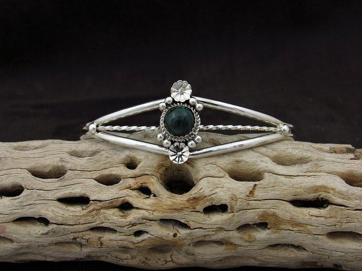 Southwestern Sterling Silver Malachite Cuff Bracelet