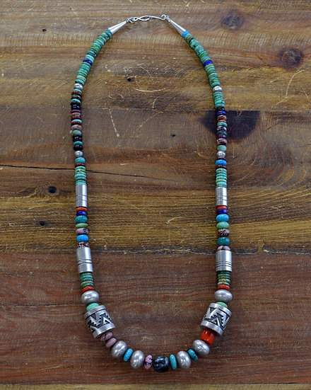 Vintage Multi-Stone Beaded Necklace