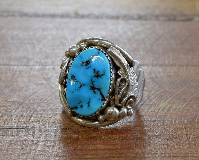 Sterling Silver and Turquoise Southwest Ring Size 11.75