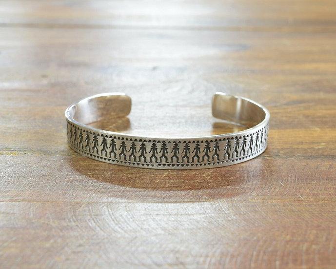 Southwestern Sterling Silver Men's Cuff Bracelet