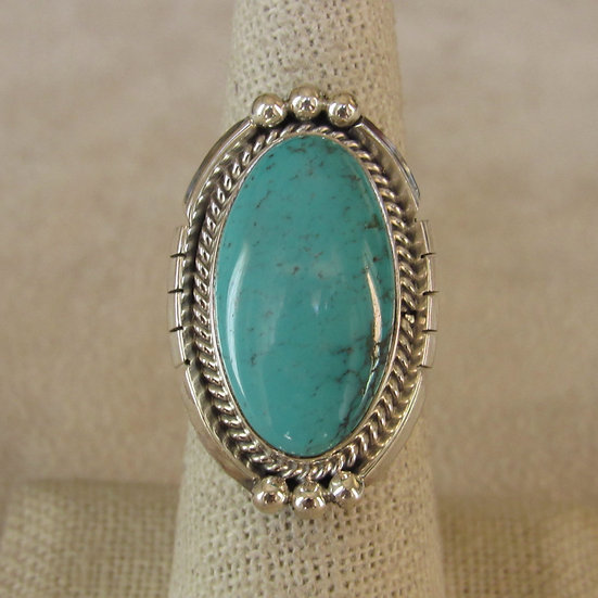 Beautiful Sterling Silver and Turquoise Southwest Ladies Ring Size 8
