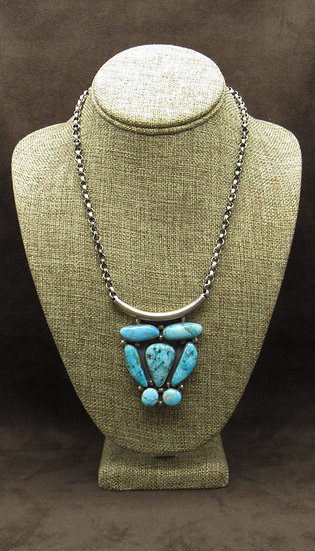 Beautiful Sterling Silver Turquoise Necklace