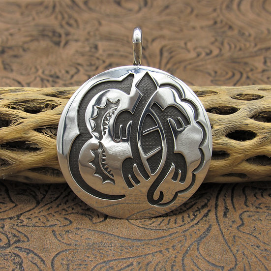 Sterling Silver Overlay Turtle Pendant
