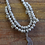 Thumbnail: Sterling Silver Bead and Coral Necklace