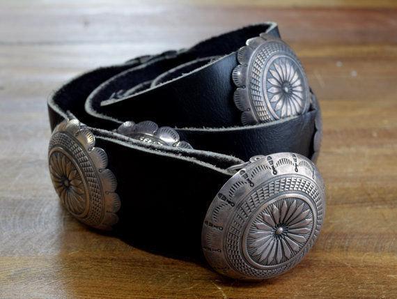 Vintage Navajo Sterling Silver Concho