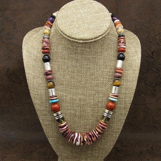 Navajo Multi Stone Graduated Beaded Necklace