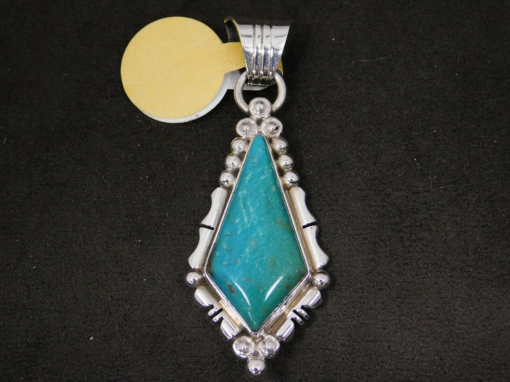 Sterling Silver Blue/Green Turquoise Pendant