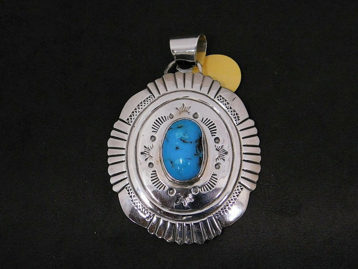 Sterling Silver Turquoise Statement Pendant