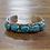 Thumbnail: Vintage Zuni Turquoise Sterling Silver Cuff Bracelet by Effie Calavaza