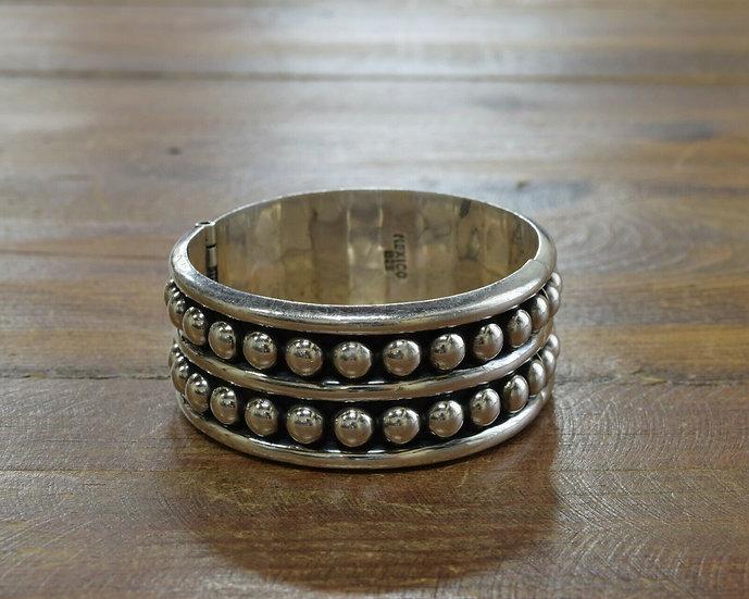 Vintage Sterling Silver Hinge Bracelet