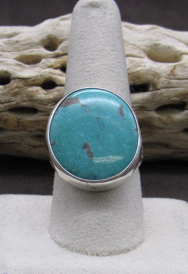 Striking Turquoise Ring Size 9 1/4