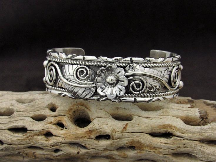 Southwestern Sterling Silver Filigree Cuff Bracelet