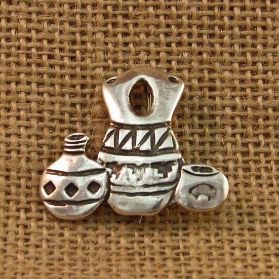 Navajo Wedding Vase Pottery Sterling Silver Pin