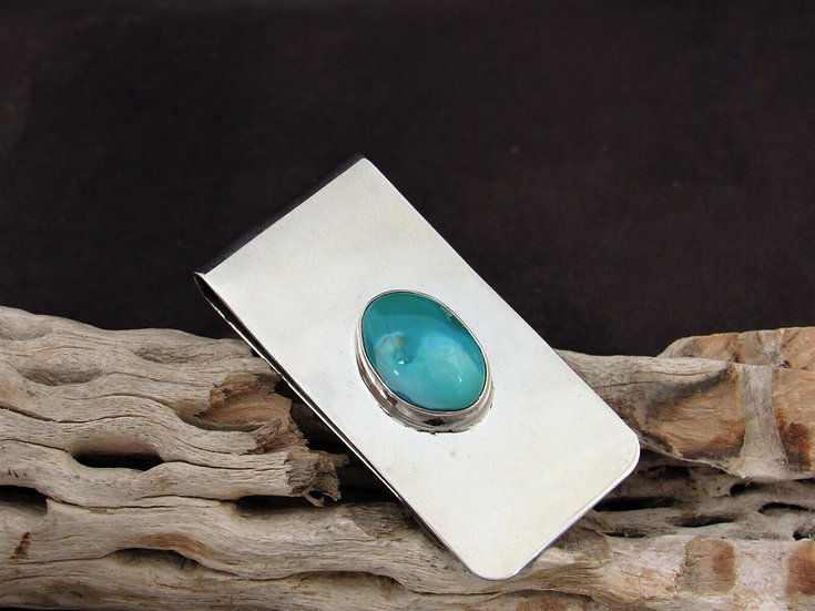 Southwestern Turquoise Sterling Silver Money Clip