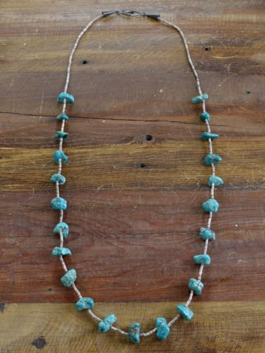 Vintage Navajo Turquoise and Shell Heishi Necklace