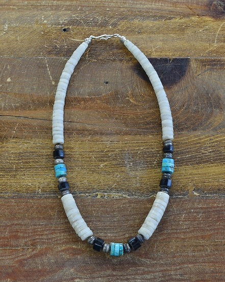 Vintage Heishe Style Beaded Necklace