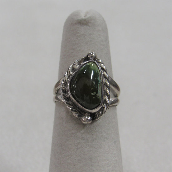Sterling Silver and Royston Turquoise Ladies Ring Size 5.25