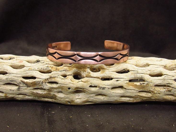 Southwestern Copper Overlay Cuff Bracelet