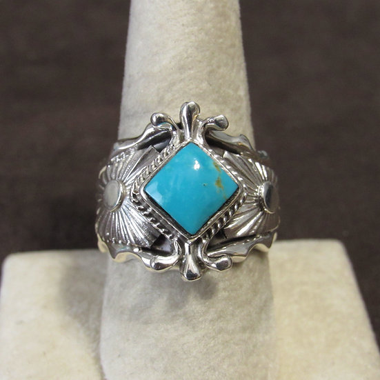 Sterling Silver and Turquoise Ladies Ring Size 9