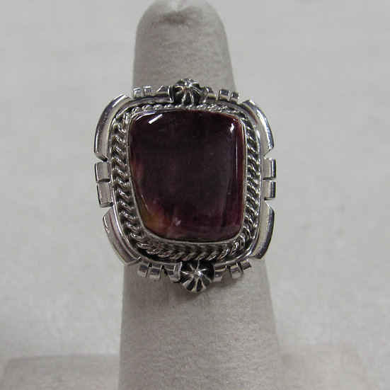 Sterling Silver and Spiny Oyster Ladies Ring Size 6