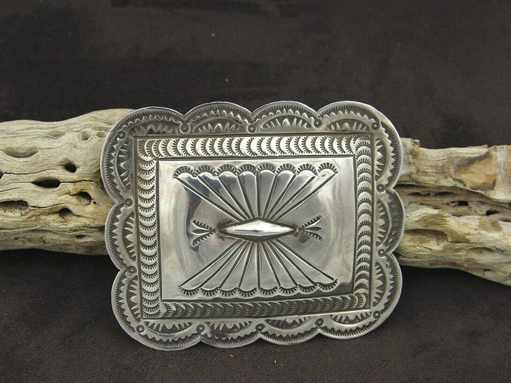 Sterling Silver Southwestern Concho Style Pin/Pendant