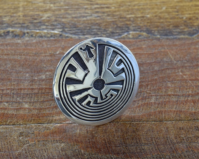 Man in the Maze Overlay Sterling Silver Ring by Rick Manuel