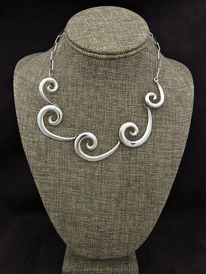 Southwestern Swirl Sterling Silver Necklace