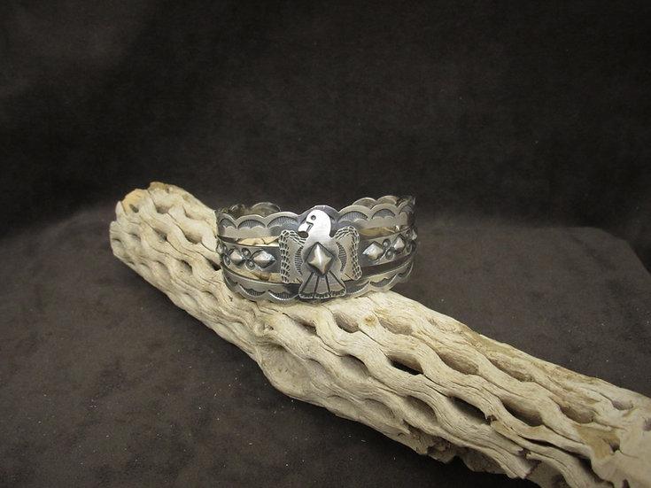 Sterling Silver Thunderbird Cuff Bracelet