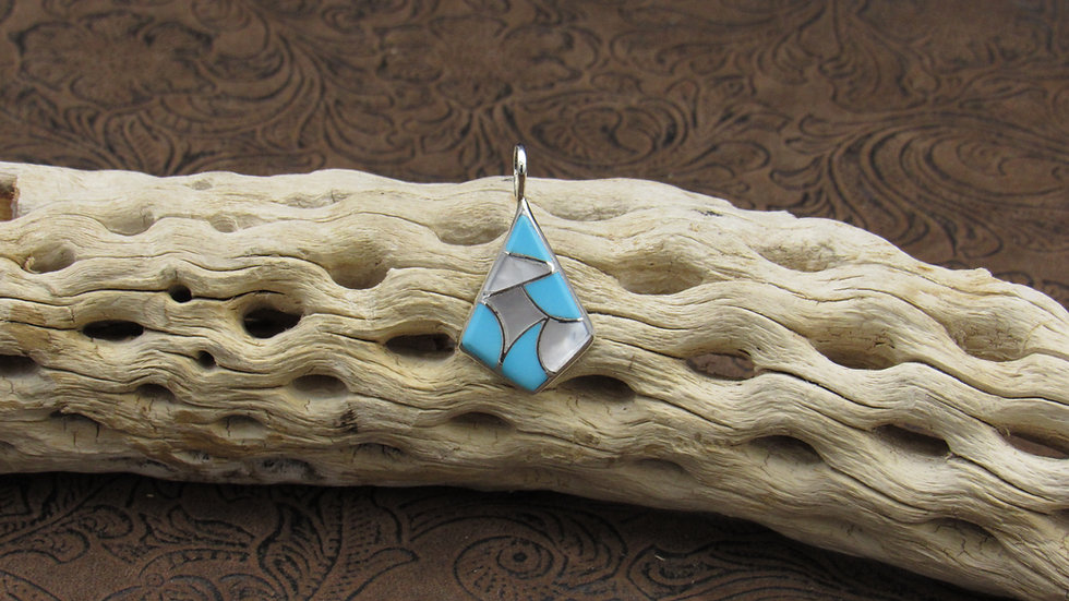 Turquoise Mother of Pearl Inlay Pendant