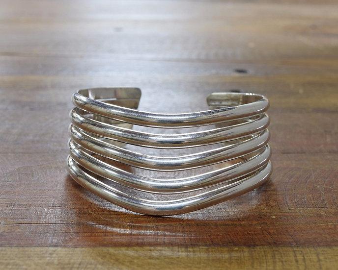 Sterling Silver 5 Row Sweater Bracelet