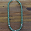 Thumbnail: Navajo Green Turquoise and Sterling Silver Beaded Necklace