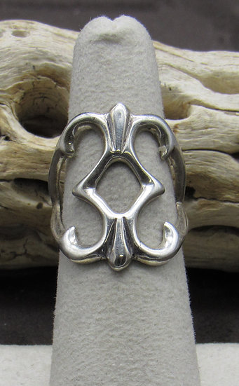 Sterling Silver Sand Cast Ring Size 6 1/2